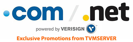 Verisign Exclusive Promotion available with TVMSERVER